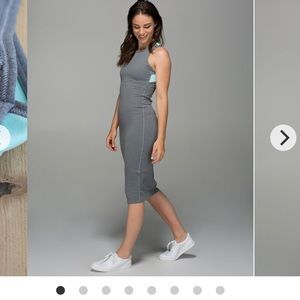 Dresses & Skirts - Lululemon Picnic Play Dress grey/blue flattering !